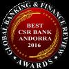 Millor banc d'Andorra 2017 en responsabilitat social corporativa