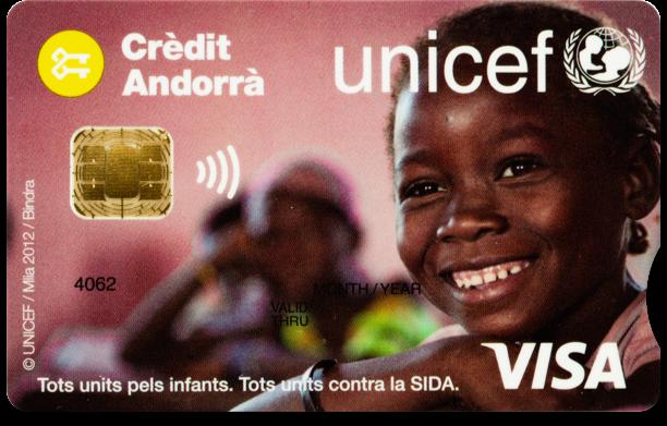 A través de la Clau Visa Unicef els clients fan un donatiu anual a l'entitat que se suma a la quantitat aportada pel Banc per contribuir a la lluita contra l'ús d'infants soldats per part de grups armats.
